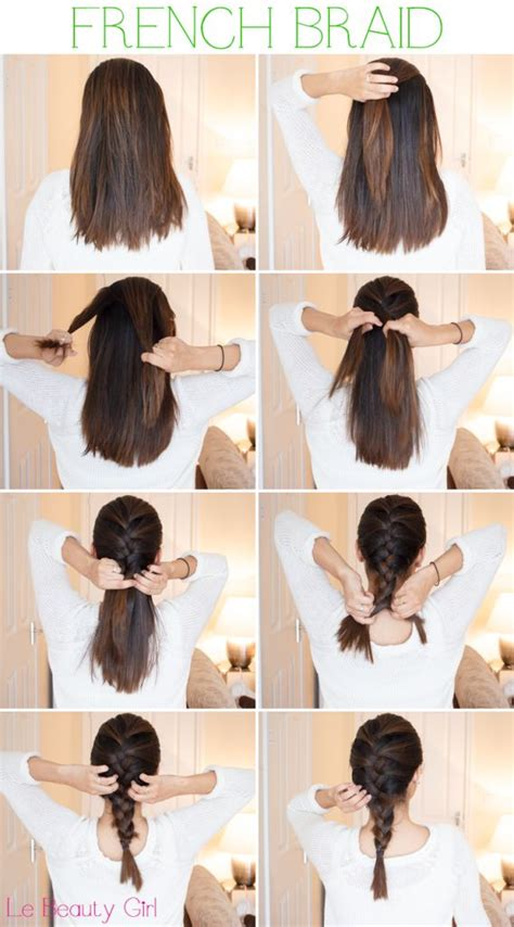 step by step hair style how to french braid hair step by step long hairstyles