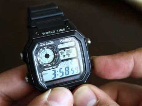Jam Tangan Casio Ae1200 Digital casio ae 1200 whd 1avef world time doovi