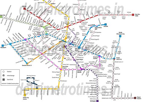 metro map delhi metro map 2017 delhi metro route map of orange green violet blue and yellow line