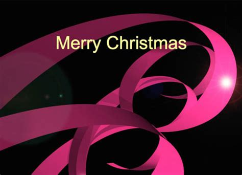 Christmas Ribbons Festive Card Festive Powerpoint Templates