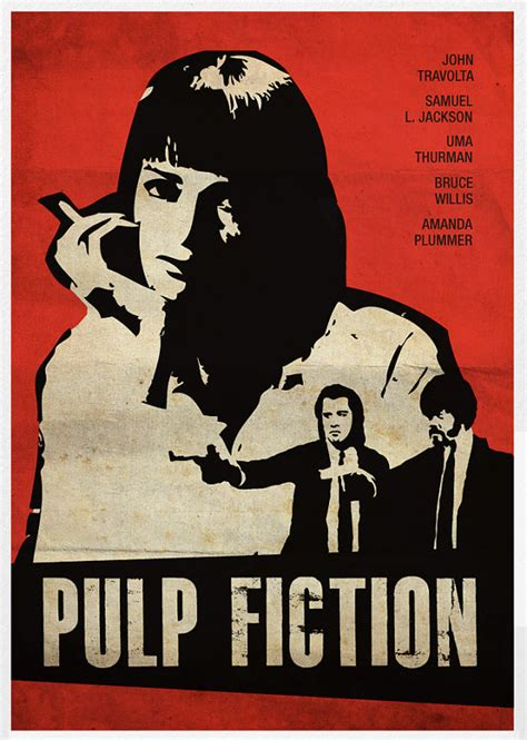 theme music pulp fiction poster theme red pulp fiction thelma and by posterinspired
