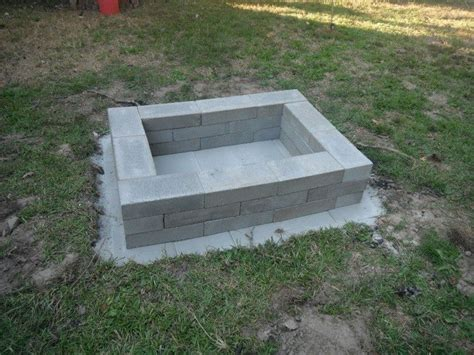 cement pits build a pit from cement landscape blocks diy