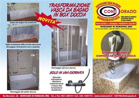 trasformazione vasca da bagno in box doccia conti orazio sostituzione trasformazione vasca da bagno
