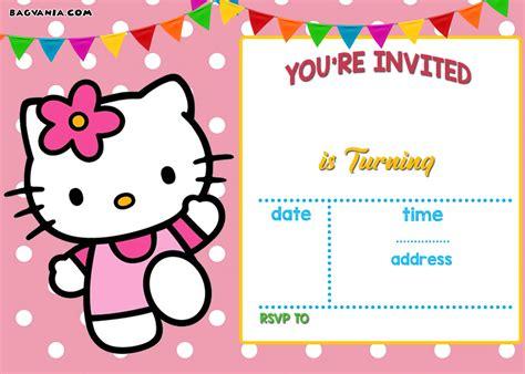 free printable hello kitty invitation templates theme