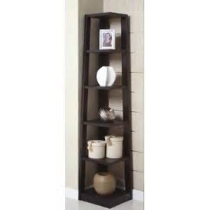 Black Corner Bookcase Cabinet Poundex 5 Tier Black Corner Bookcase
