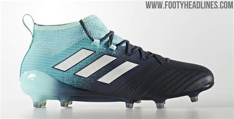 light blue football cleats energy aqua adidas ace 2017 18 ocean storm boots released
