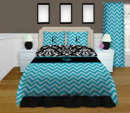blue chevron bedding damask bedding by eloquentinnovations