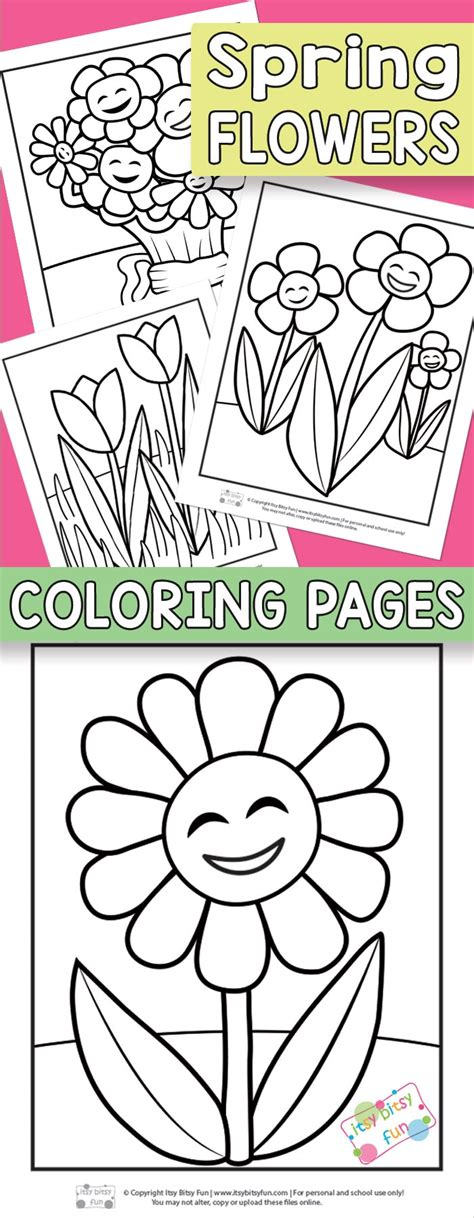 flower coloring pages  kids itsy bitsy fun