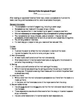 historical fiction book report historical fiction scrapbook book report rubric and