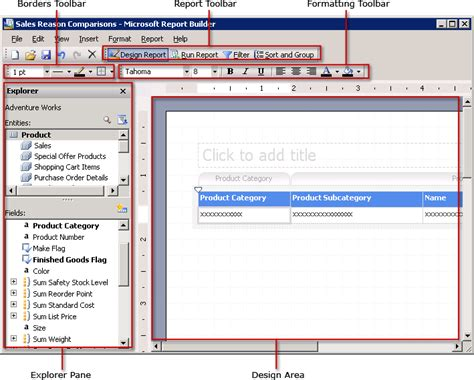format date report builder working with report builder 1 0 ad hoc reports