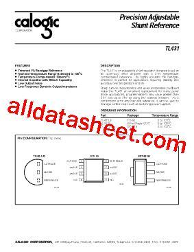 transistor tl431 tl431 datasheet pdf calogic llc
