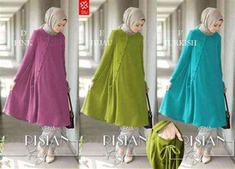 Baju Blouse Lv Dn934052 Tunik baju atasan risian blouse busana muslim modern