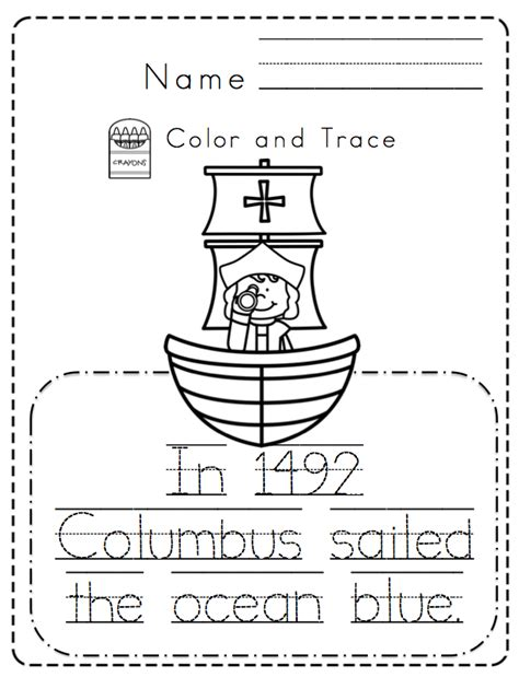 columbus day coloring pages for kindergarten christopher columbus day reading for preschoolers buscar