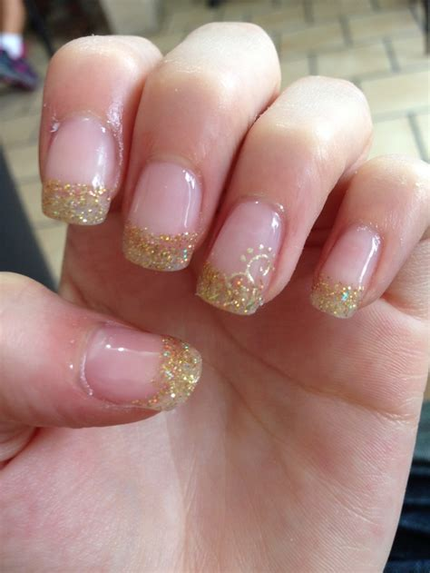 Prom Nails by Gold Prom Nails Prom Prom Dresses Prom