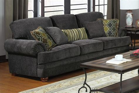504401 coaster smokey grey sofa set colton collection
