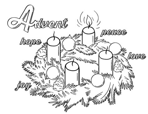 printable advent coloring pages free advent coloring page