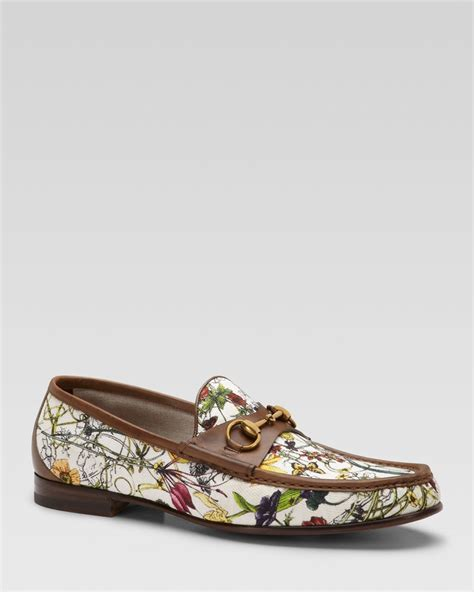 gucci canvas loafers gucci mini infinity flora canvas loafers in for