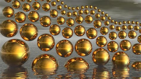 Wallpaper 3d Gold gold spheres wallpaper 3d wallpapers 10564