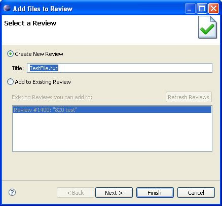 Add Review by Add To Review Wizard