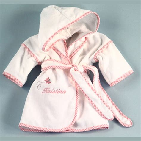 personalized girls hooded bathrobe butterfly unique