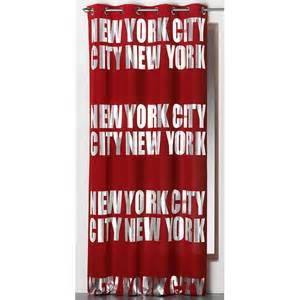 rideau occultant quot new york silver quot 140x260cm