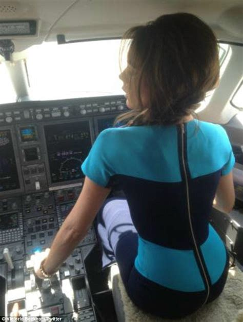 victoria beckham takes control   private jet