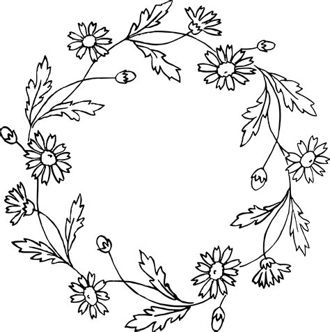Wallpaper Home Decoration by Floral Wreath Clip Art Amp Vector Images Oh So Nifty