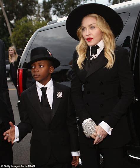 Madonna And Adopted David by Madonna And David Banda 8 Hit Grammys 2014