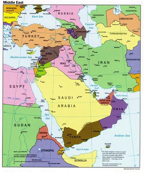 mideast region map maps middle east