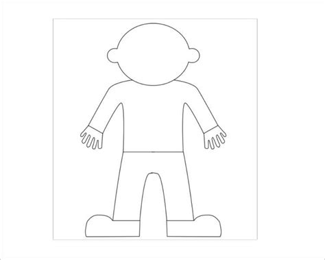 Flat Stanley Template Blank 45 Flat Stanley Templates Free Download Creative Template
