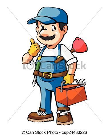 clipart idraulico idraulico cartone animato illustrazione