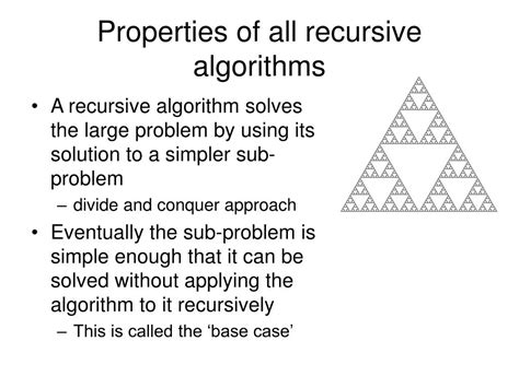 What Is The Base In The Recursive Algorithm For A Binary Search Of A Sorted Array Ppt Introduction To Algorithm Design And Recursion Powerpoint Presentation Id 398833