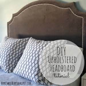 Fabric Headboard Diy Diy Upholstered Headboard Home Sweet Ruby