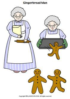 gingerbread man story printable templates gingerbread man story clipart 61