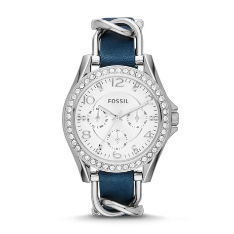 Fossil Rilley Stainless Blue Es4294 fossil multifunction stainless steel and leather blue es3464 fossil 174