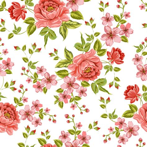 Vintage Flowers Pattern vintage flower patterns vector graphics 01 free