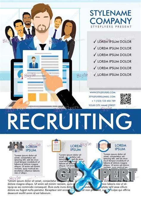 recruitment flyer template free recruiting v5 psd flyer template