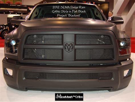 ram truck grills custom grilles 2012 sema dodge ram project quot blackout quot in