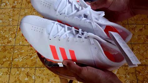 Sepatu Adidas Biasa sepatu spikes adidas adizer finesse white bb4097 unboxing
