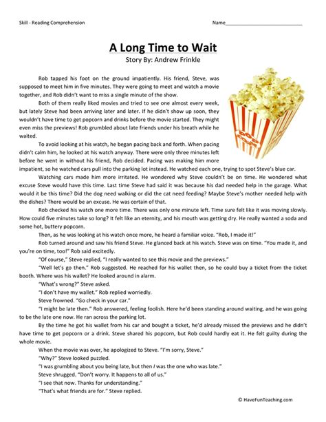 Reading Comprehension Worksheets 3rd Grade Choice by Reading Comprehension Teaching