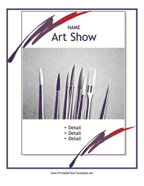Art Show Flyer Free Show Templates