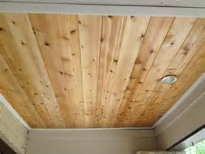 Cedar Porch Ceiling Porch Ceiling Rejuvenation Tongue And Groove Cedar With