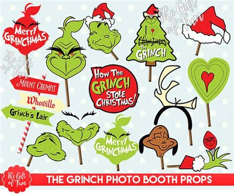 free printable grinch photo booth props pinterest the world s catalog of ideas