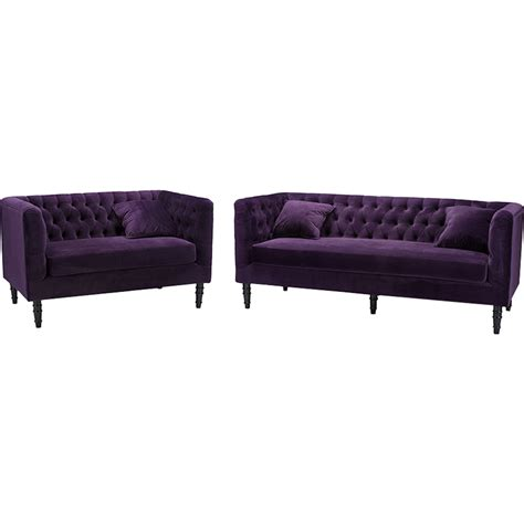 2 piece couch set rylee 2 piece sofa set purple dcg stores