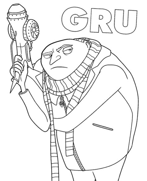 despicable me printable coloring pages download gru printable coloring page sheet to print or download