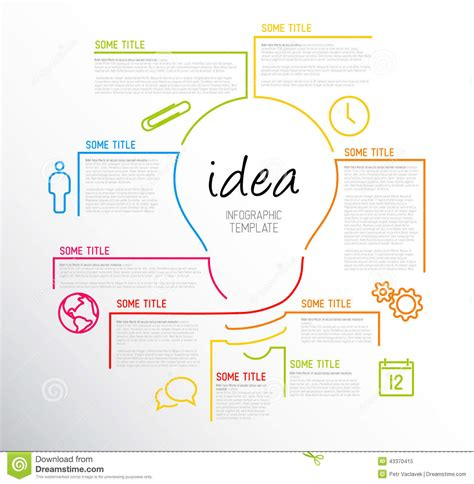 idea template modern idea infographic template made from lines stock