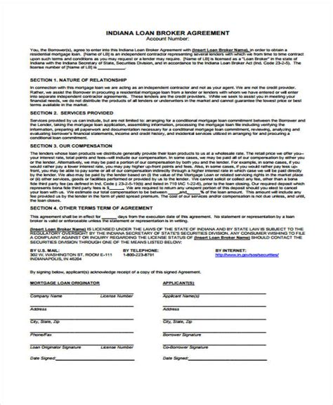40 Printable Loan Agreement Forms Commercial Loan Broker Fee Agreement Template
