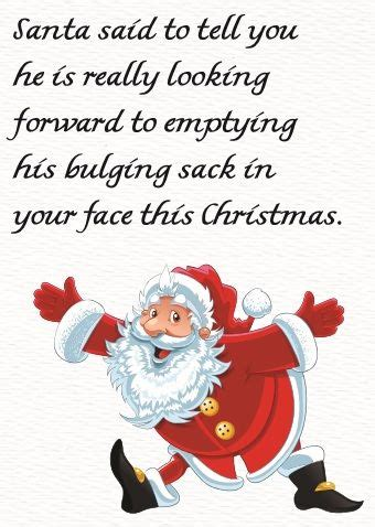 rude gifts for christmas card santa s bulging sack