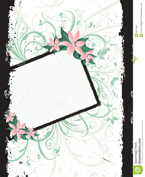 grunge page with floral border stock illustration illustration of fashioned aged 2582659 floral grunge border stock photo image 2571420