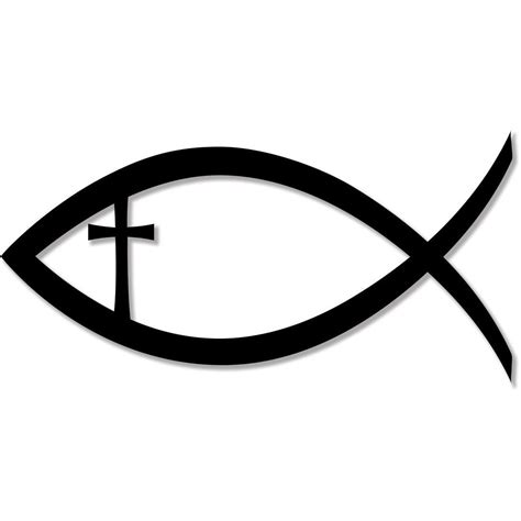 jesus fish cross tattoos christian fish jesus cross faith religion bumper